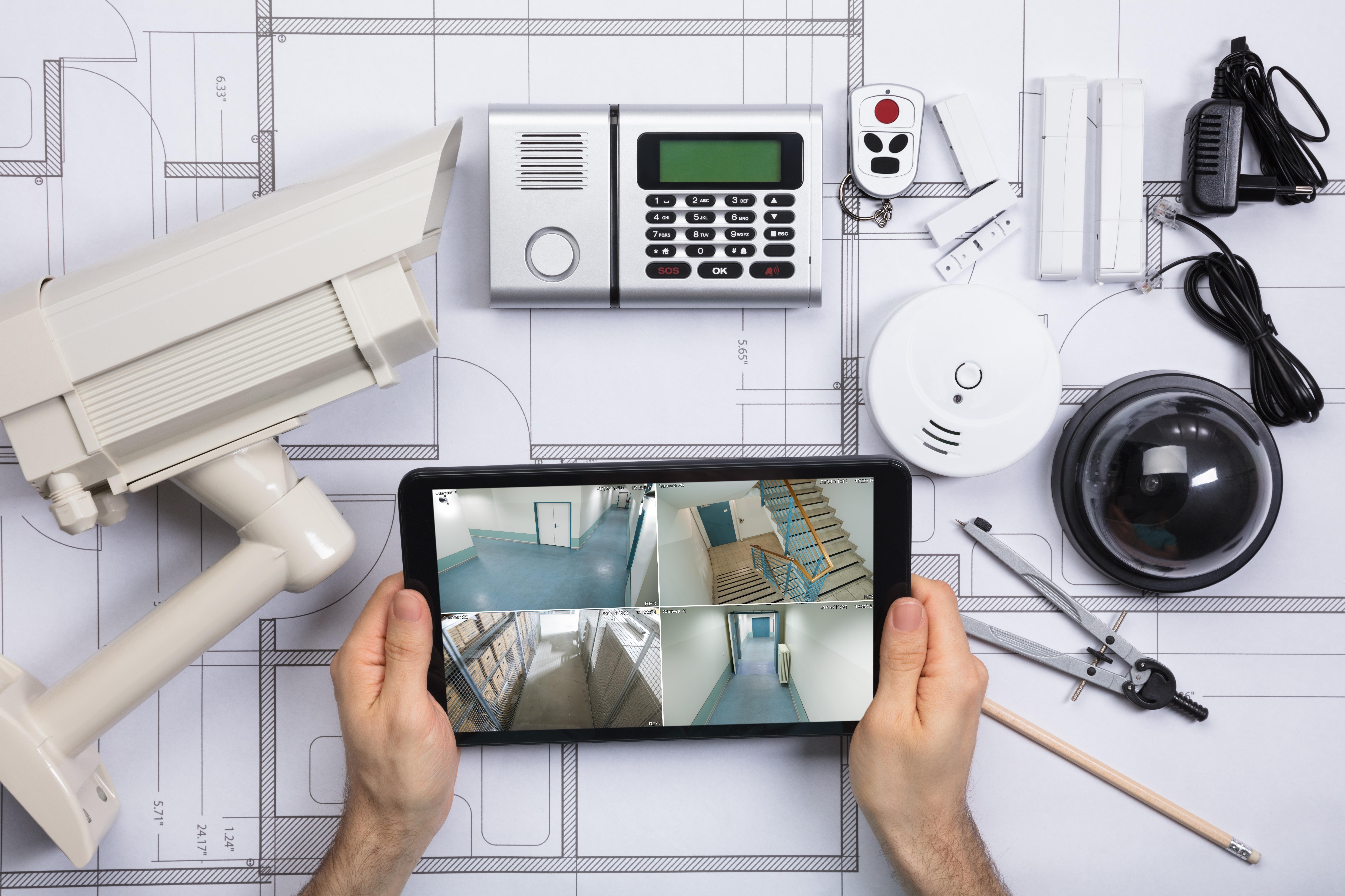 Kit básico de alarmes residenciais para proteger sua casa